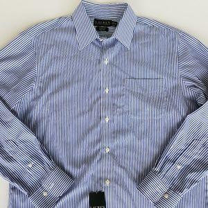 Lauren Ralph Lauren Striped Button Dress Shirt